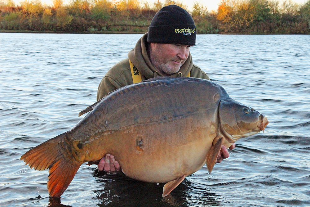 Dave's best Holme Fen fish at 54lb 14oz.