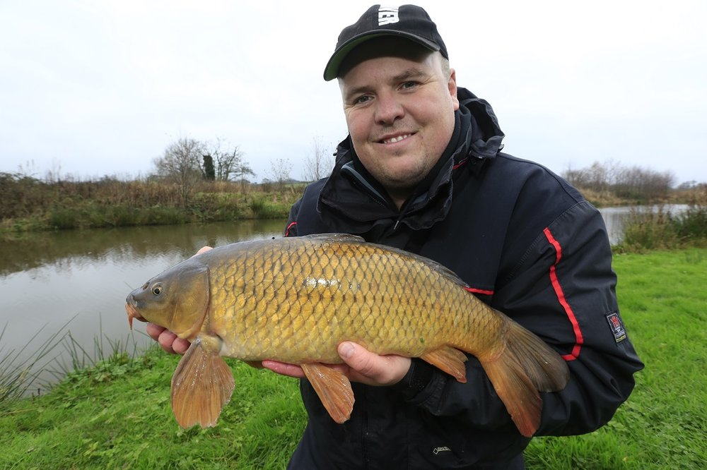 Carp like this just love bread in winter.