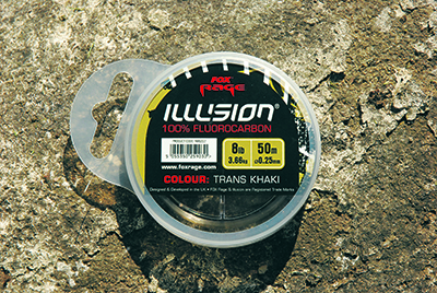 fluorocarbon   A type of nylon, fluoro is heavier and slightly thicker than normal mono, and underwater it's almost invisible to fish. It does have less stretch than standard mono, but sinks rapidly and so is used by some carp and feeder anglers as a mainline. Drop shot lure anglers also use fluorocarbon for their leader material.