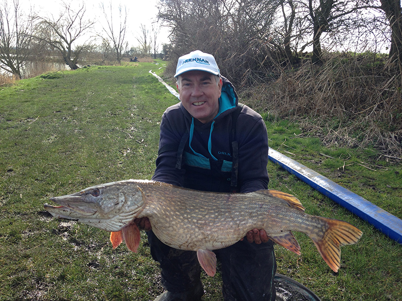 Alan with his massive pike at Lindholme