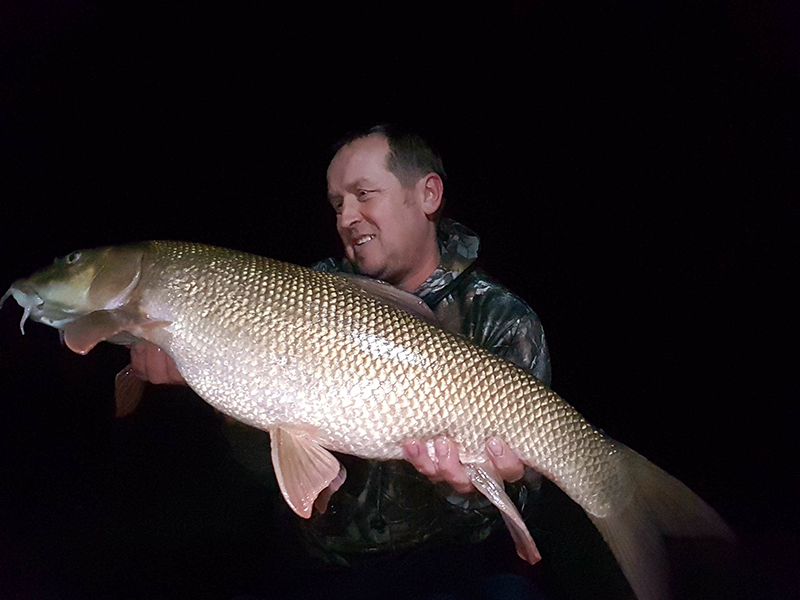 Andrew Waddingham with his 13lb barbel