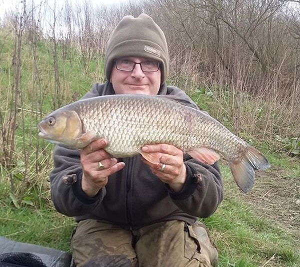 Andrew Fieldhouse with his PB chub