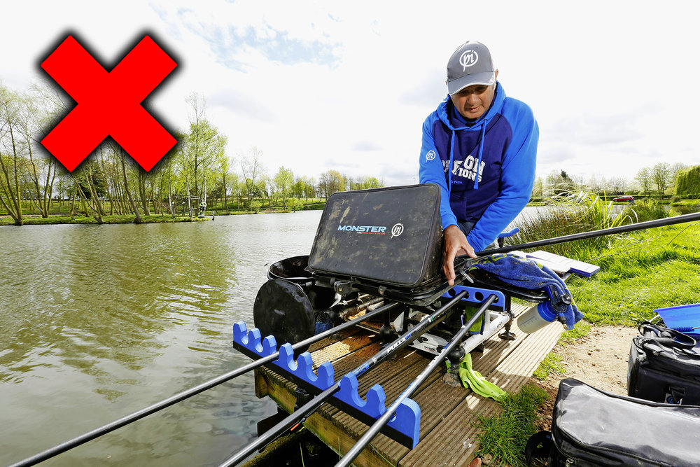 Correct way to position a pole roost with tommy pickering for Bank fishing near me