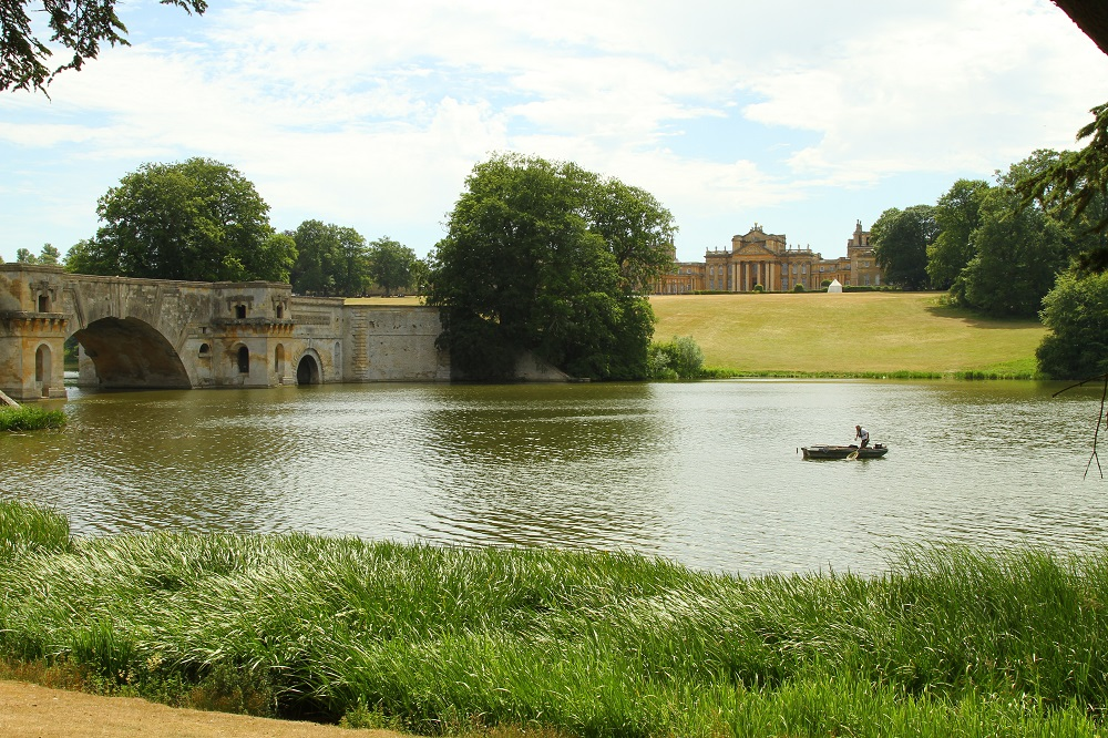 Fishing like a millionaire on a punt at Blenheim Palace