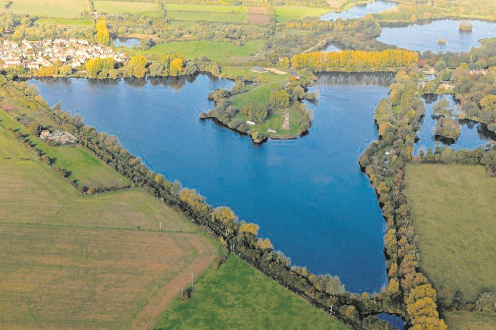 There's plenty of water to go at on the famous carp and tench fishing hotspot, Horseshoe Lake