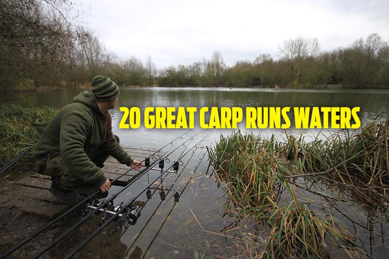 Fishing near me | Top 20 Carp Fishing Runs waters — Angling