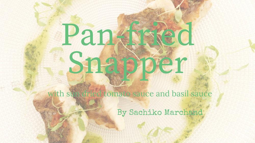 鯛のポワレまたはカルパッチョレシピ