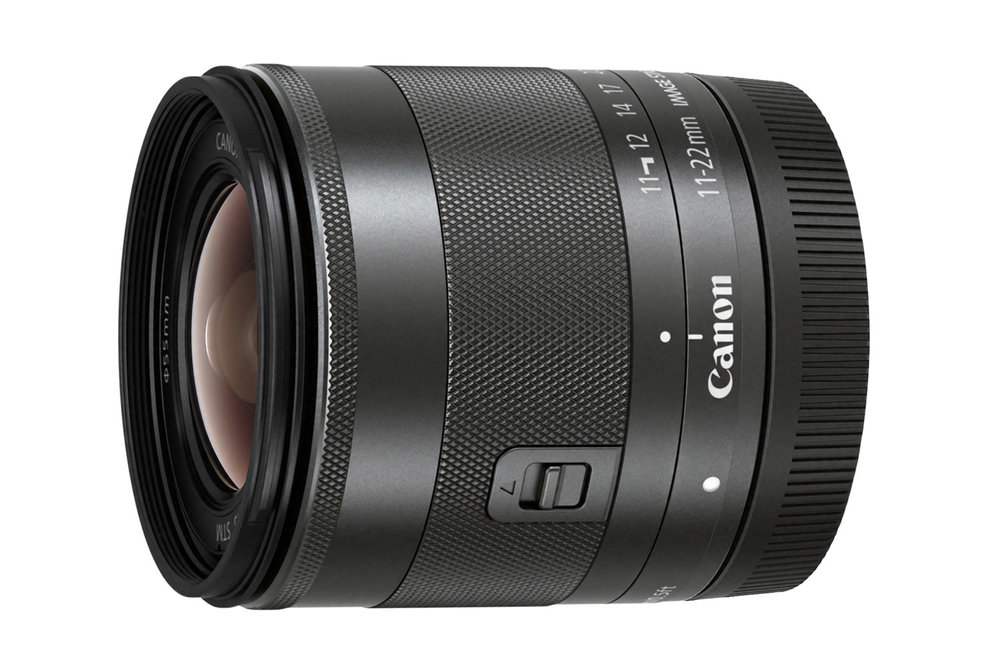 The Canon EF-M 11-22mm f/4-5.6 IS STM lens for mirrorless cameras