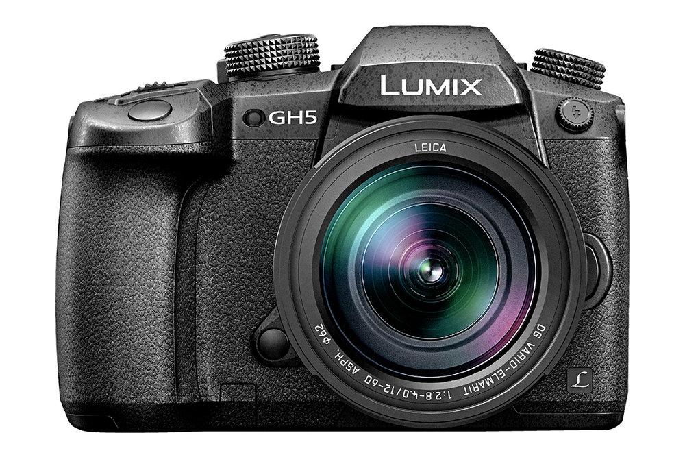 The mirrorless Panasonic Lumix GH5 camera