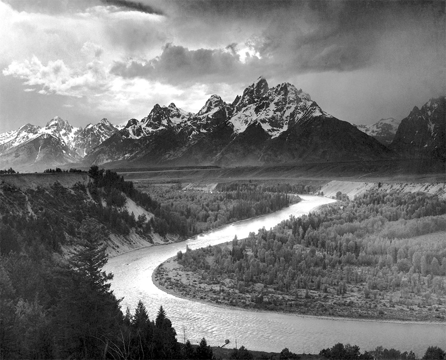 Ansel Adams is one of many famous masters of photography Dr David Fairman takes inspiration from.