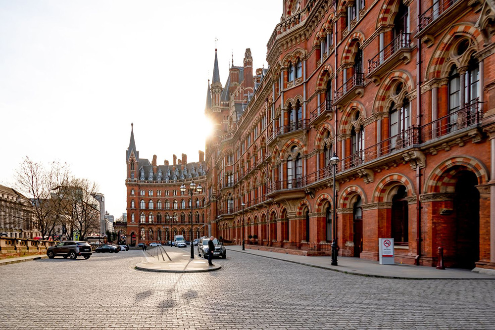 The historic Renaissance Hotel sits above London Postal Museum's disused Rail Mail, both located near Kings Cross