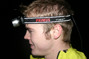 Trying out the Primus PrimeLite Race headtorch
