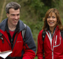 Julia shares a joke with Country Walking editor Jonathan Manning