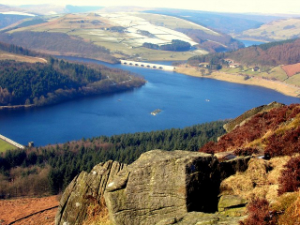 Ladybower Reservoir from Bamford Edge by John Darch
