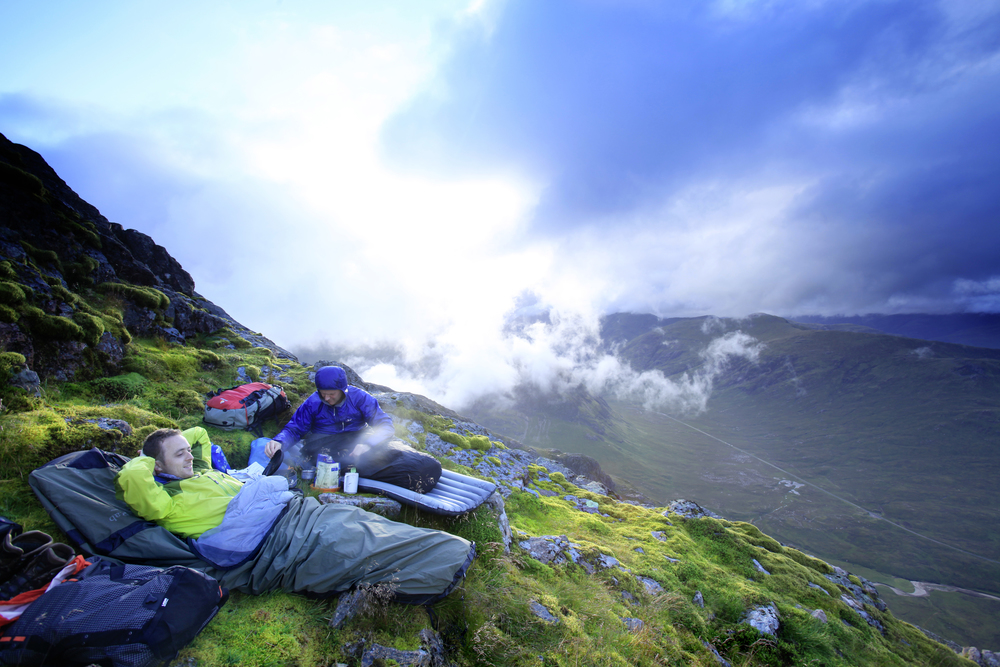 Bivvying on the summit of the legendary Buachaille Etive Mor. It may be mad – but who wouldn't want to? Photograph: Tom Bailey / Trail Magazine