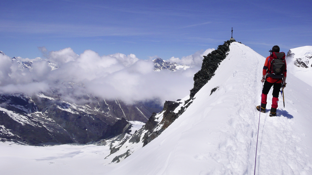 A 4000m Alpine Peak is something many aspire to... but where to start? Photo: Jeremy Ashcroft