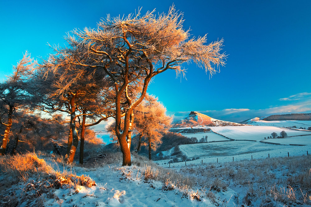 Roseberry Topping's distinctive outline in winter. Photo: Mike Kipling / Alamy