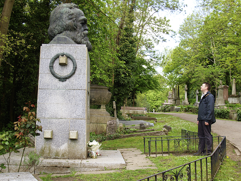 The grave of Karl Marx, Highgate Cemetary