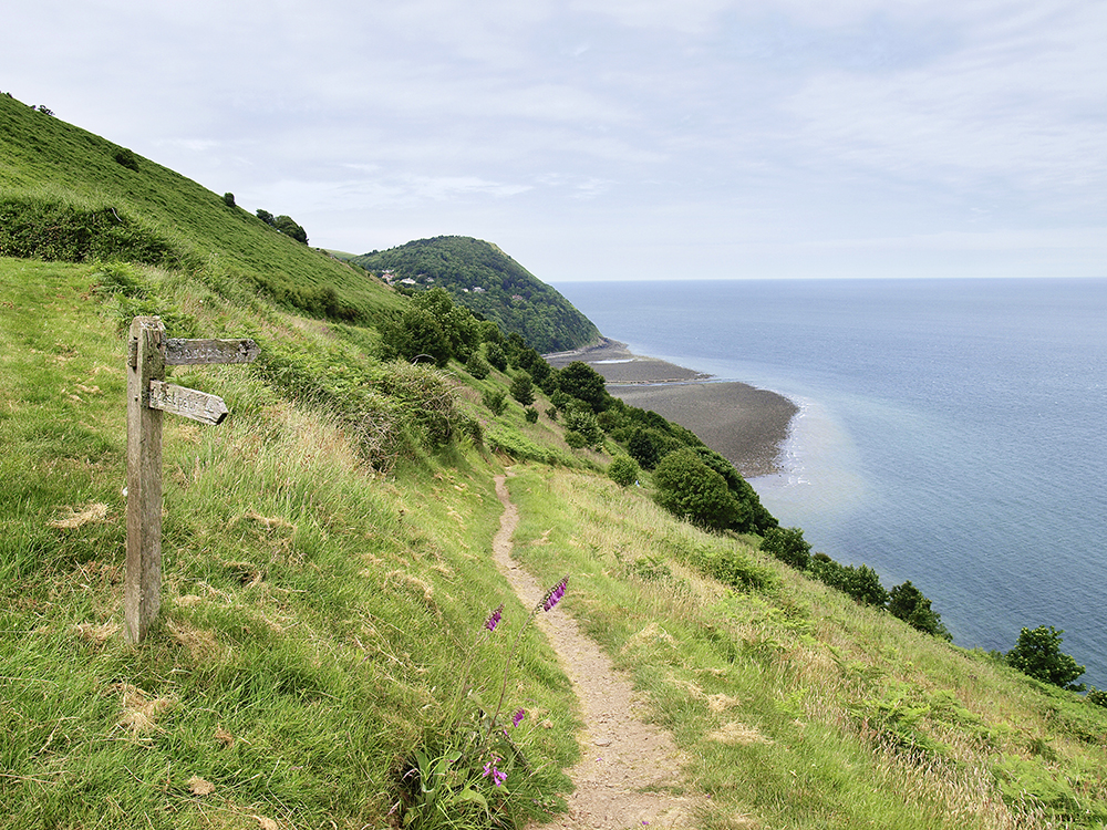 The coast at Lynmouth.  Photograph : Nick Hallissey / Country Walking Magazine