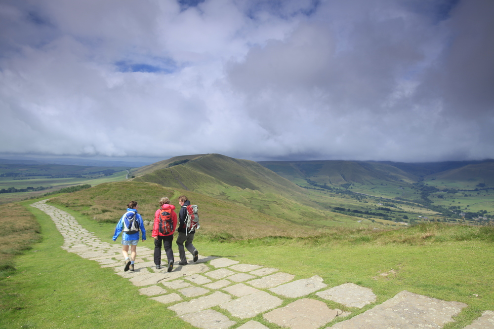 The Great Ridge in the Peak District. As wheel-friendly as hills come? Photograph: Tom Bailey