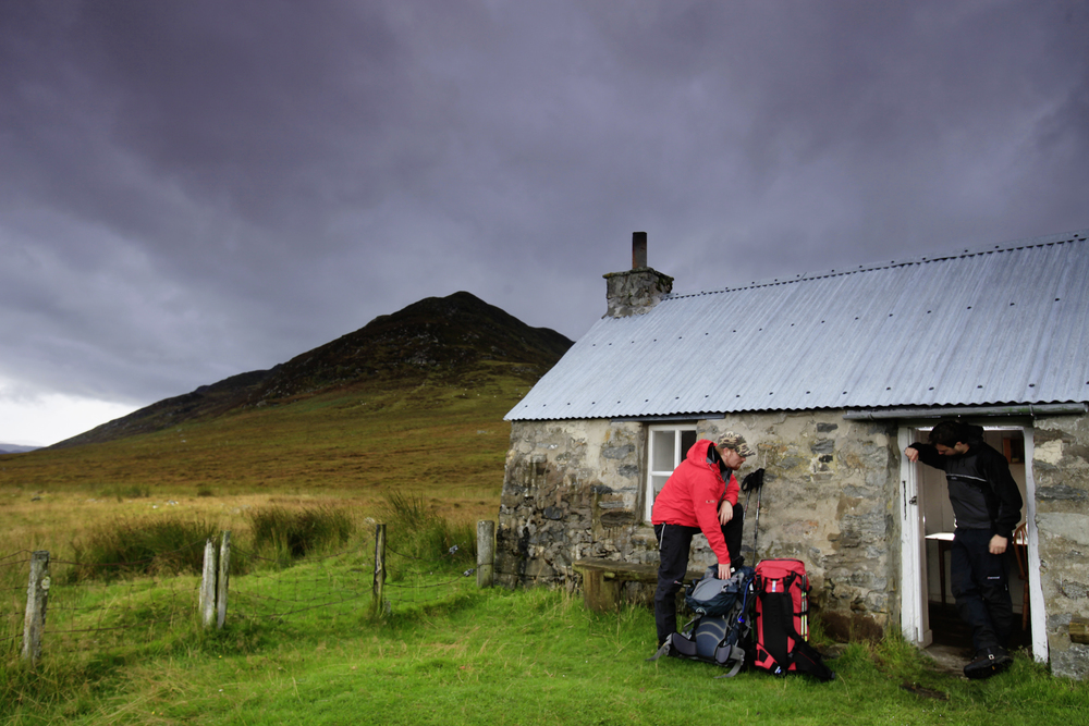 Dalballoch Bothy in the Monadhliath mountains. Photograph: Tom Bailey / Trail Magazine