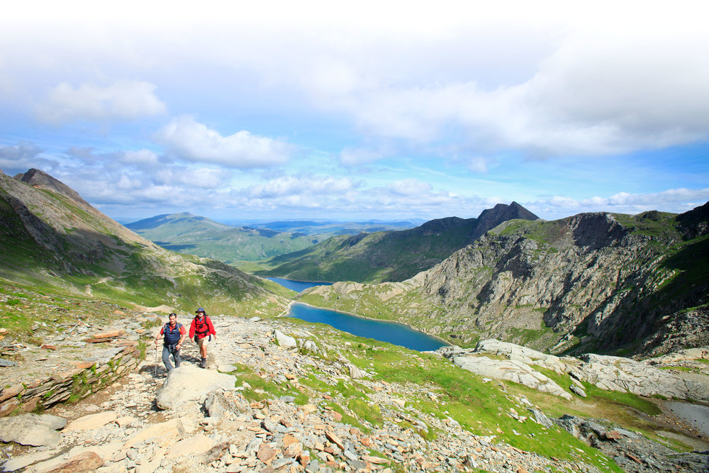 High on the Pyg Track, Snowdon