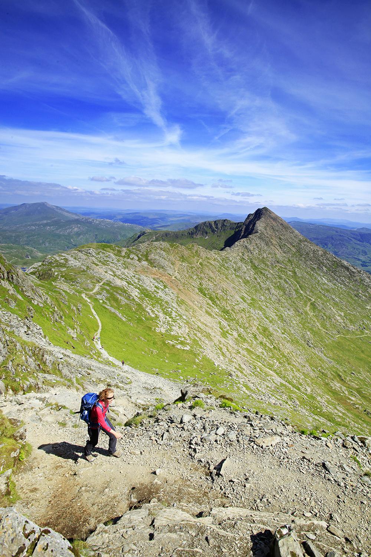 Snowdon's Watkin Path, Lliwedd beyond.
