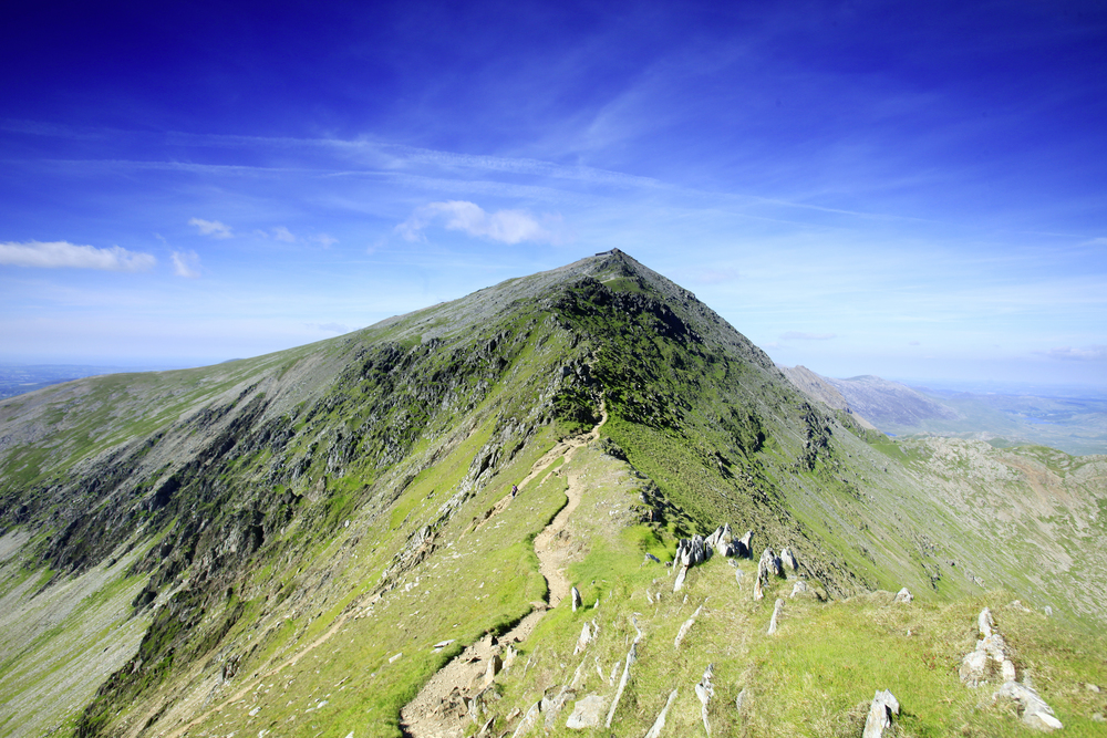 The Snowdon Ranger Path heading for the summit on the South Ridge.