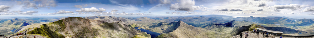 The panorama from Snowdon's summit.