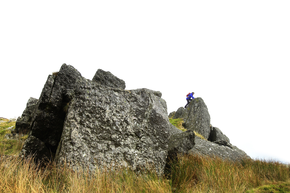 The summit rocks of Moel Tryfan.  Photo : Tom Bailey © Trail Magazine