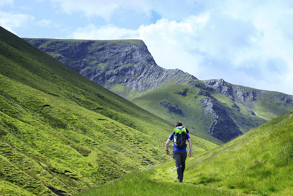 Approaching Sharp Edge and Blencathra from Mungrisdale Fell. Photo: Tom Bailey / Trail Magazine