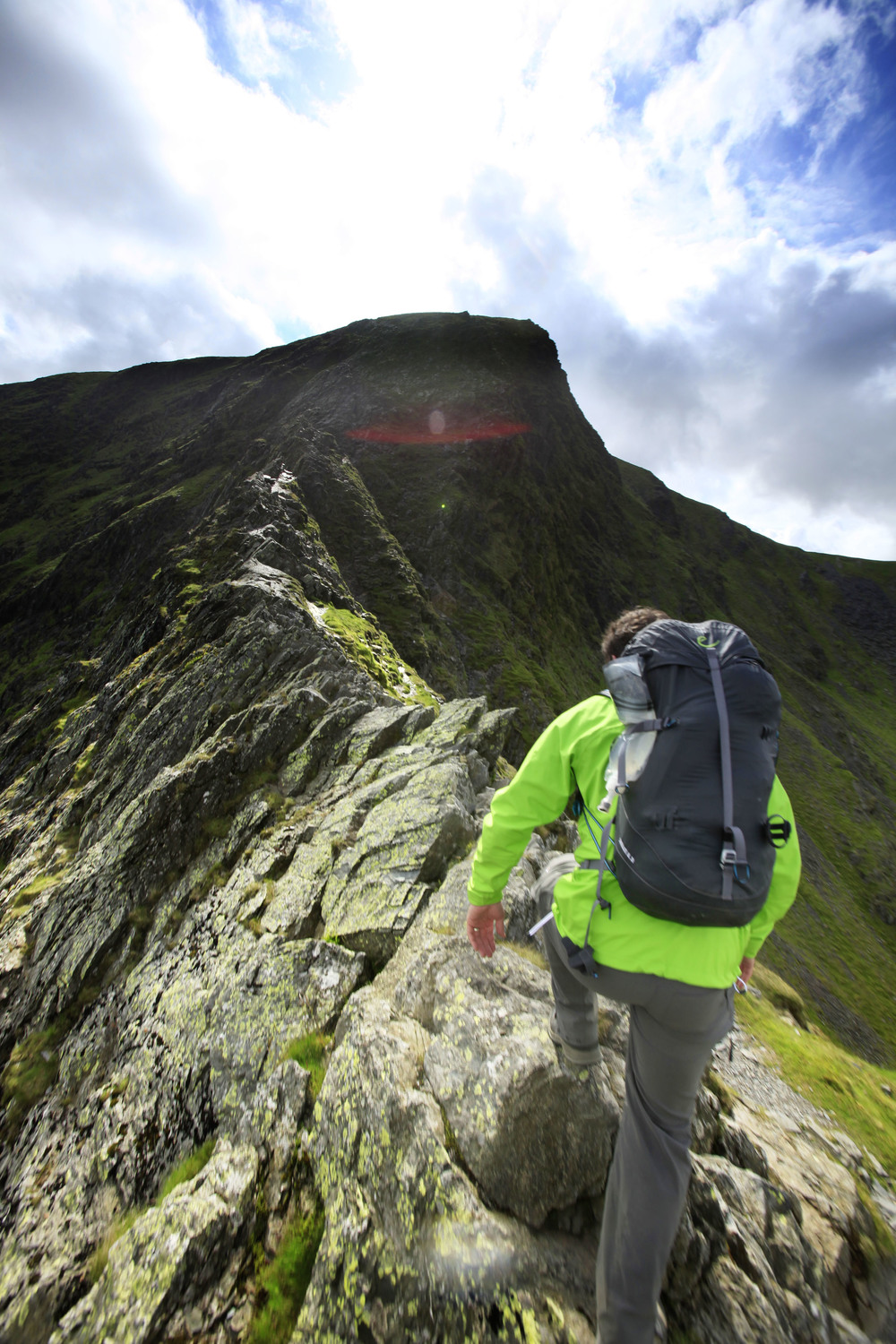 On Sharp Edge, 20 litre backpack full of camping gear. Photo: Tom Bailey © Trail Magazine