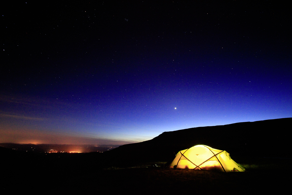 Wild camping perfection above High Cup Nick, Pennines. Photo: Tom Bailey © Trail Magazine
