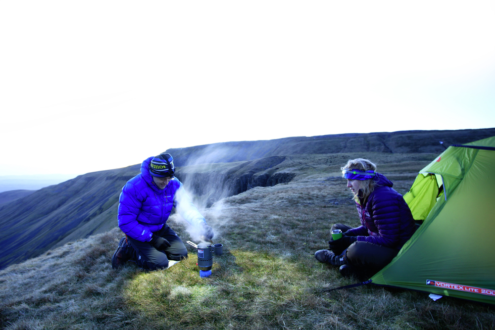 Breakfast: chilly, but spectacular. Photo: Tom Bailey © Trail Magazine