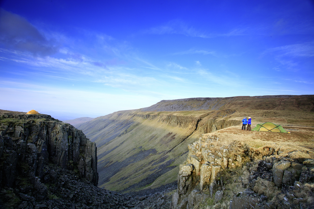 High Cup Nick wild camp: the Pennines don't look this spectacular anywhere else. Photo: Tom Bailey © Trail Magazine