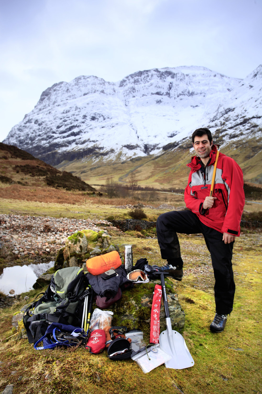Huw Gilbert MIC spills the secrets of his rucksack in Glen Coe. Photo: Tom Bailey / Trail Magazine