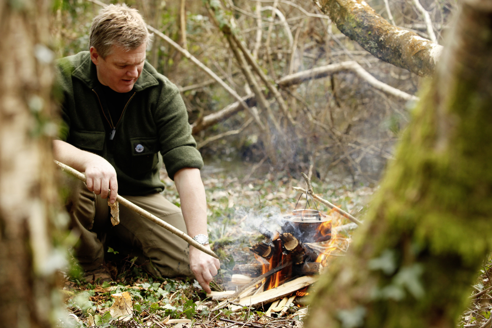 Ray Mears in Surrey, March 2015.  Photograph : Tom Bailey © Trail Magazine