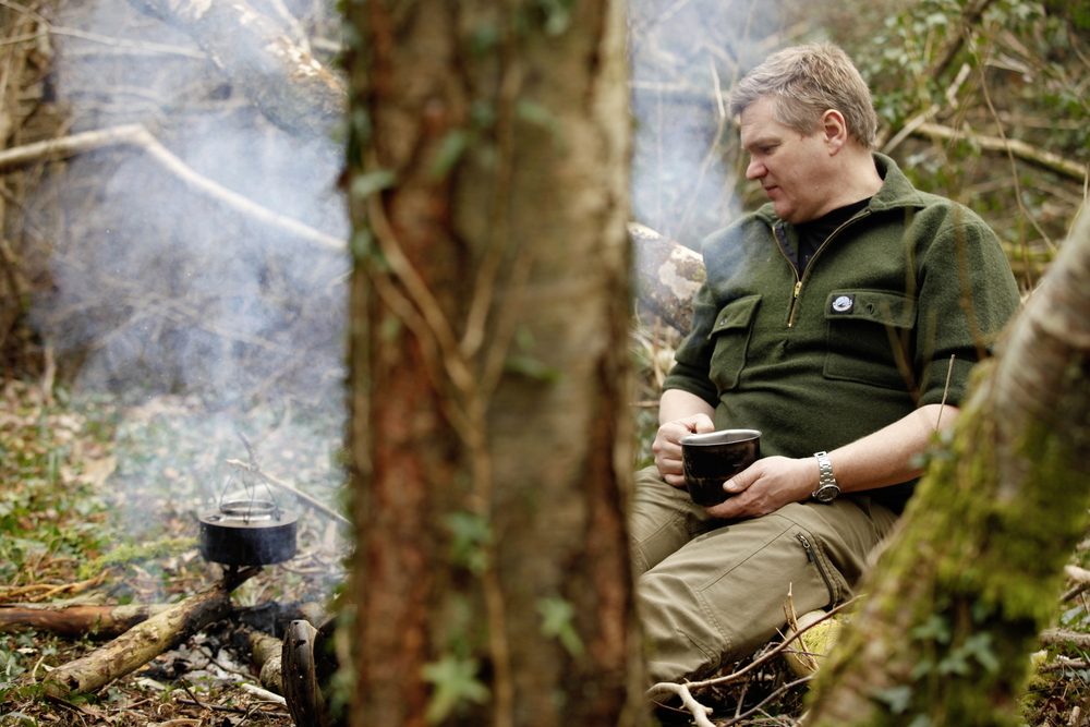 Ray Mears in Surrey, March 2015. Photograph: Tom Bailey © Trail Magazine