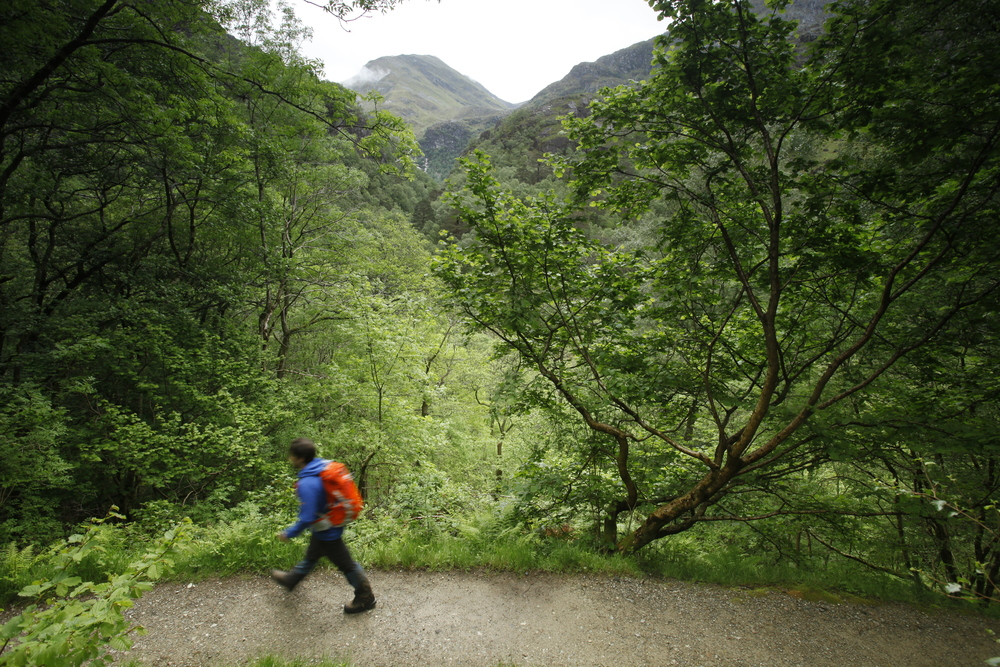 Walking in the Steall Gorge. Photo: Tom Bailey / Trail Magazine