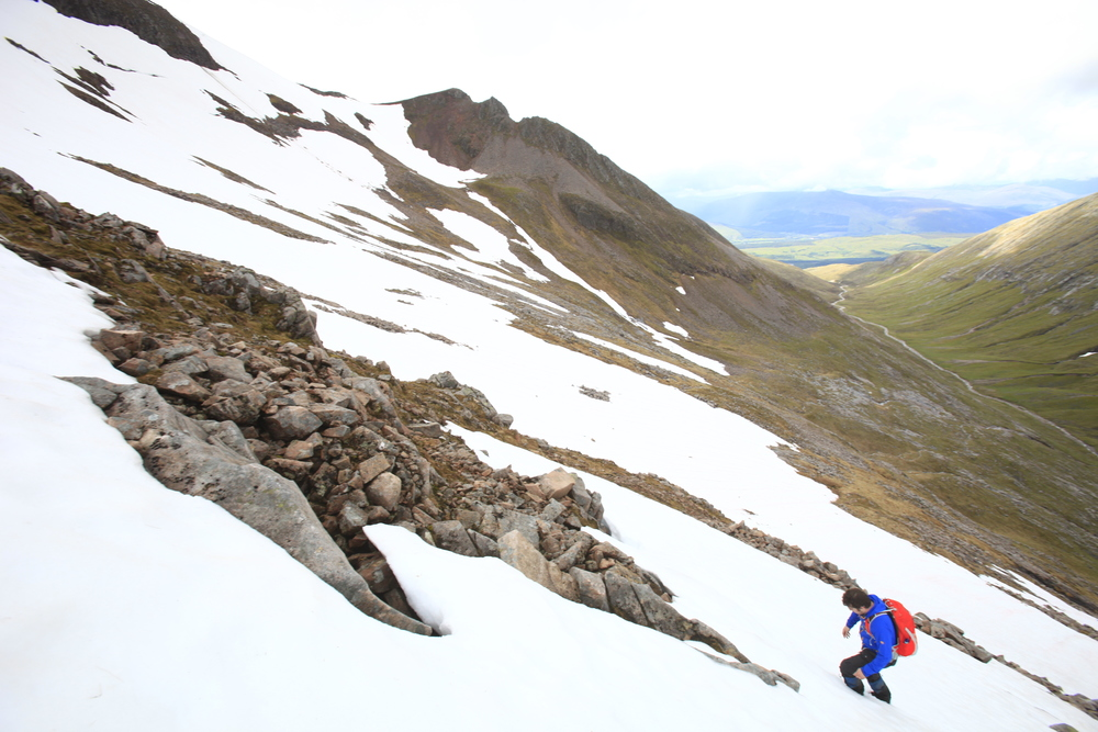 On the way up Carn Mor Dearg. Photo: Tom Bailey / Trail Magazine