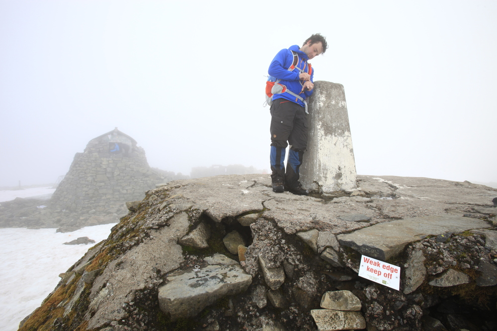Ben Nevis summit. Photo: Tom Bailey / Trail Magazine