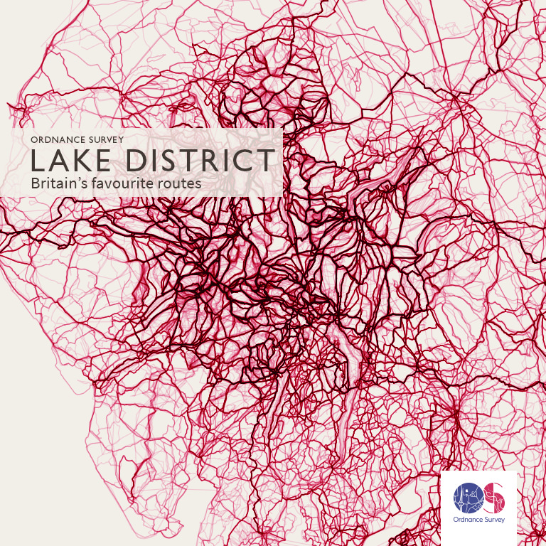 The Lake District was shown to be Britain's favourite place to walk. Image: Ordnance Survey