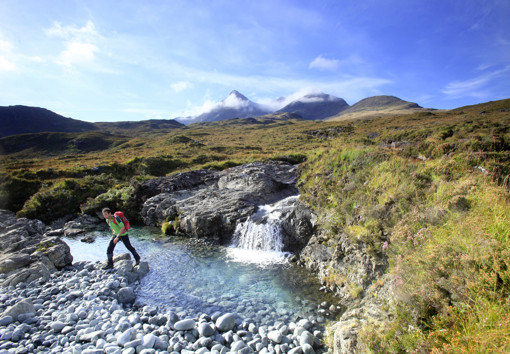 Crossing the extraordinary Glen Sligachan. Photo: Tom Bailey
