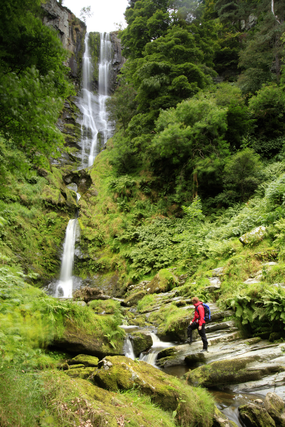 The stunning Pistyll Rhaeadr waterfalls. Photo: Tom Bailey / Trail Magazine