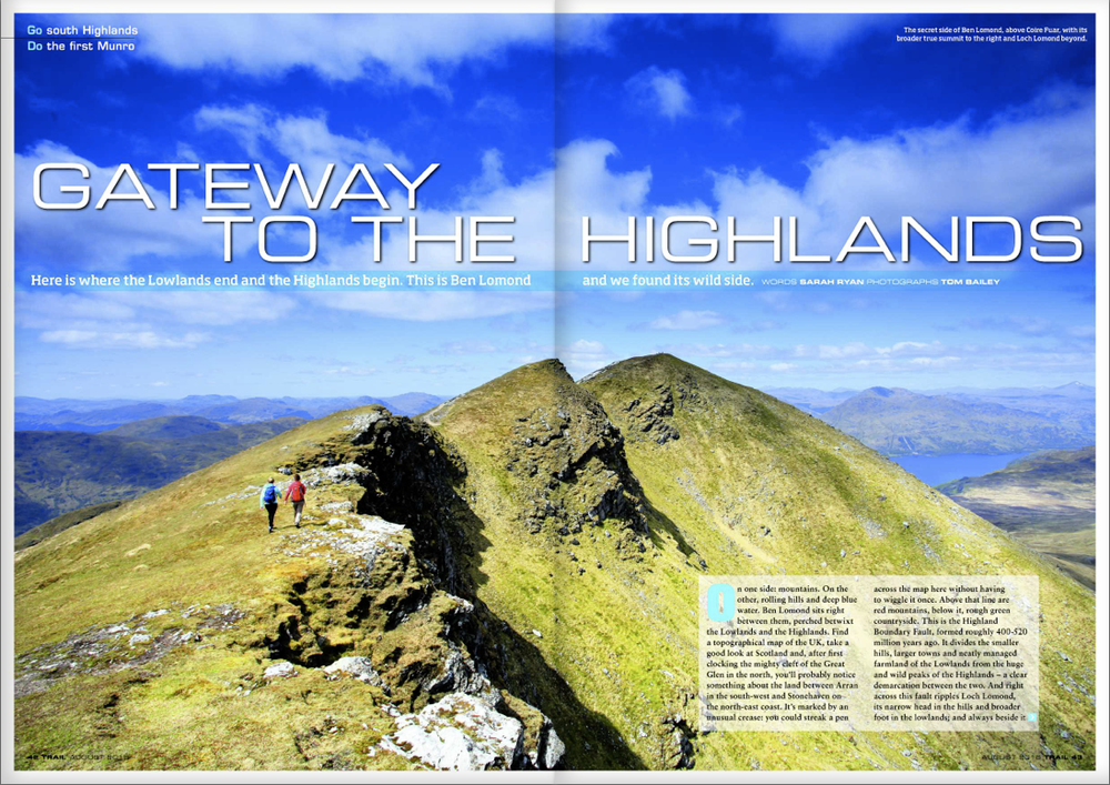 GATEWAY TO THE HIGHLANDS It's the most southern Munro and often overlooked for the more northern peaks, but Ben Lomond has a wildside to explore.