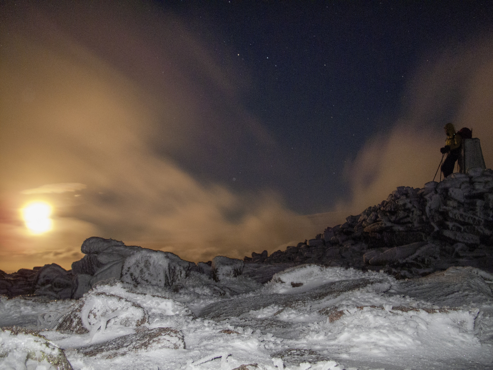 Nightfall on the summit of Ben MacDui. Photo Simon Ingram