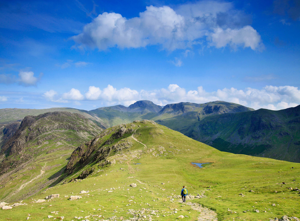 Heading towards the highest mountains in England on the Coast to Coast's Lake District stretch.