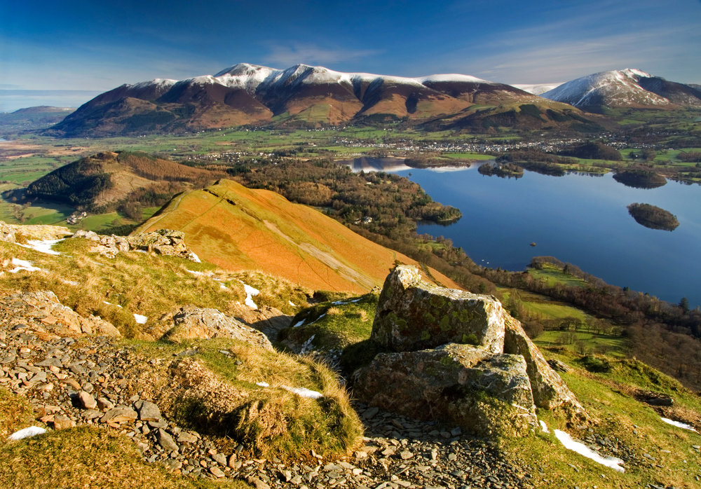 Skiddaw and Derwent Water from Cat Bells. Photo: Alamy