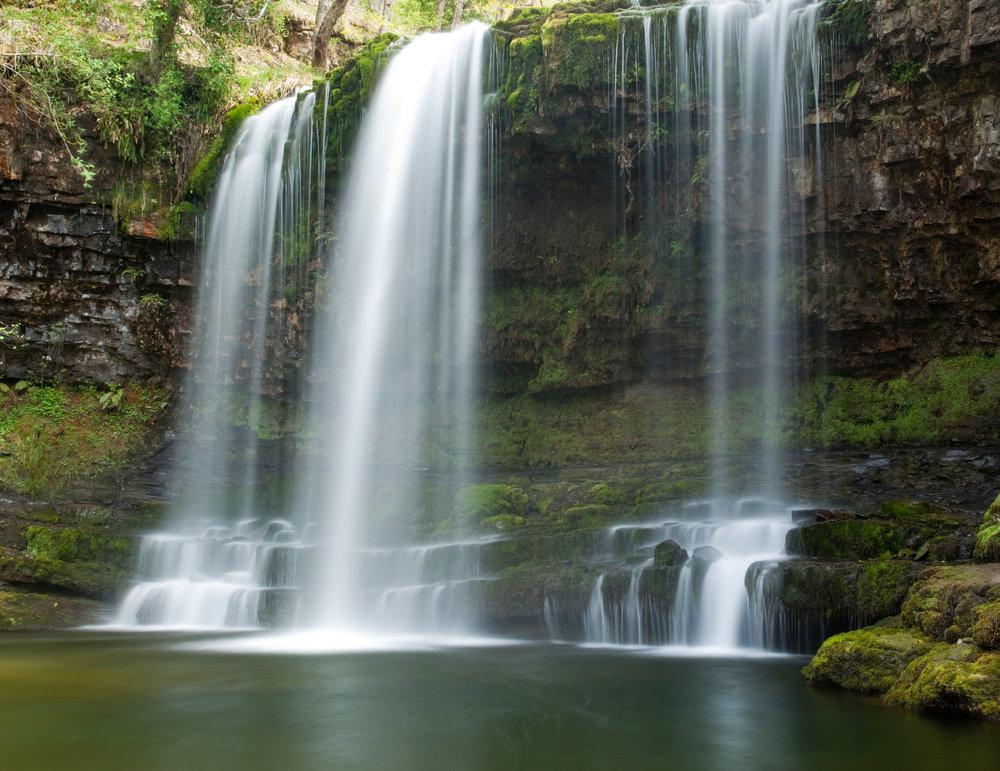 The Sgwd Y Eira Rhaedr waterfall. Photo: Alamy