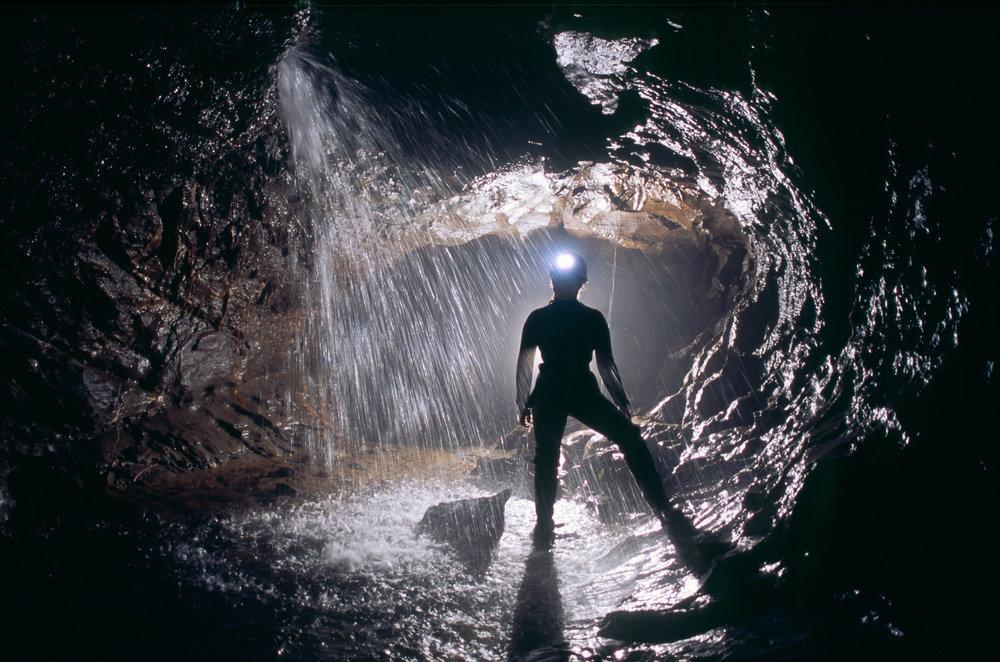 A caver in Dan Yr Ogof. Photo: Alamy